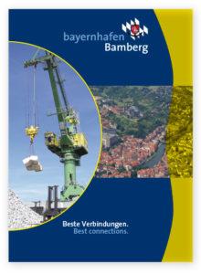 """Cover der Broschüre """"Beste Verbindungen. Best Connections."""" bayernhafen Bamberg"""