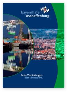 """Cover der Broschüre """"Beste Verbindungen. Best Connections."""" bayernhafen Augsburg"""