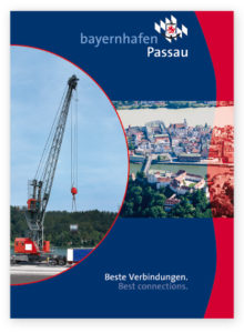 """Cover der Broschüre """"Beste Verbindungen. Best Connections."""" bayernhafen Passau"""