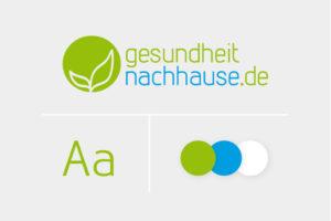 gesundheit nachhause logo schrift corporate design