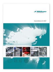 cover geschaeftsbericht 2007 muehlbauer