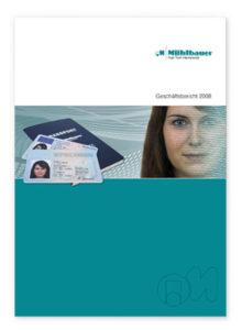 cover geschaeftsbericht 2008 muehlbauer