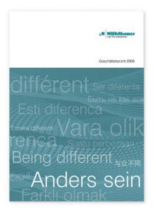 cover geschaeftsbericht 2009 muehlbauer